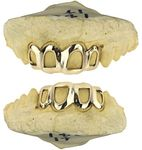 Real 14K Gold Open Face Custom Grillz