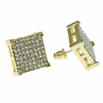 Square Earrings Gold 14MM