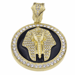 Pharaoh Black Gold Coin Pendant