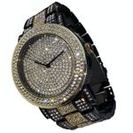 Black & Gold Micro Pave Big Face Watch