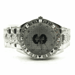 Black Dollar Sign Hip Hop Watch
