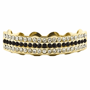 Black Gold 3 Row Top Grillz