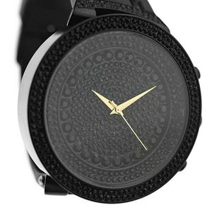 Black Stones Huge Round Watch