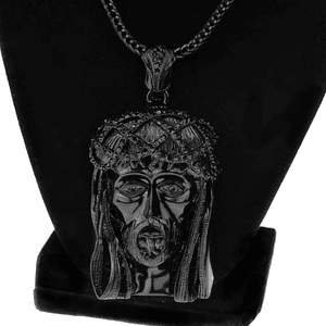 "Black Jesus 36"" Franco Chain"