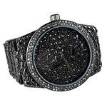 Mens Black Nugget Design Watch
