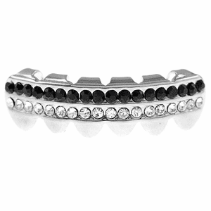 Black Two-Row Bottom Teeth Grillz