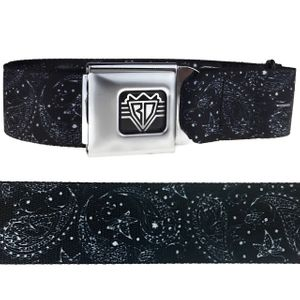Black /White Paisley Buckle-Down Belt