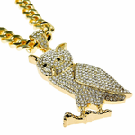 "Owl Gold 30"" Cuban Chain"