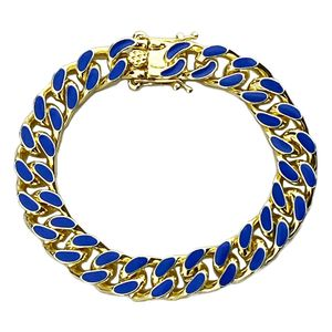 14K Gold Plated Blue Bracelet