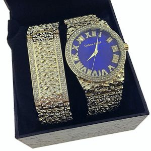 Blue Face Hip Hop Nugget Watch Set