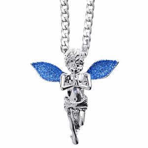 Blue Stardust Angel Cuban Chain