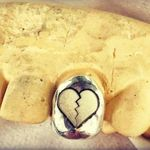 10K Gold Broken Heart Engraved (Any Tooth)