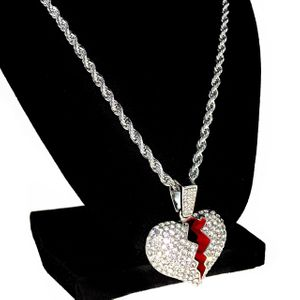 "Broken Heart  24"" Rope Silver Chain"