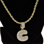 """Bubble Letter C Gold Rope Chain 24"""""""