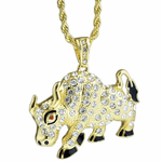 "Big Bull Gold Rope Chain 24"" Necklace"