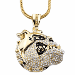 "Gold Bulldog Dog 36"" Franco Chain"