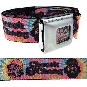 Cheech & Chong Faces Tie Dye Belt