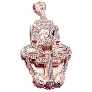 Combo Jesus Rose Gold Charm (Large)