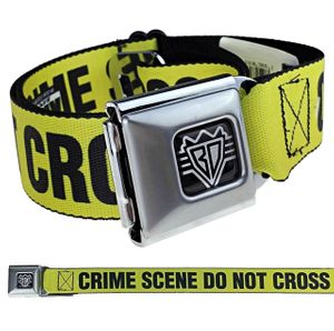 Crime Scene Tape Buckle-Down Belt