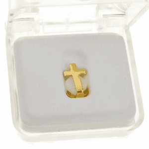 14k Gold Plated Cross Top Tooth Cap