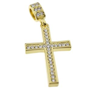 14k Gold Plated Thin Cross Pendant