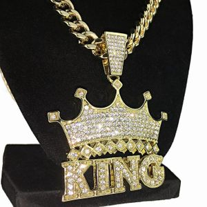 Crown King Gold Cuban Chain 30""