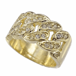 Cuban Link Gold Tone Hip Hop Ring
