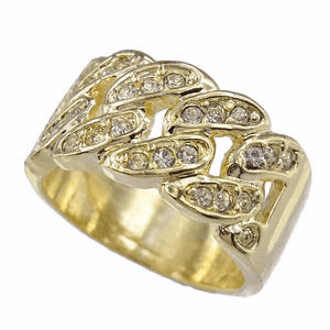 Bling Cuban Link Gold Hip Hop Ring