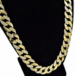 """30"""" Iced-Out Cuban Chain Gold"""