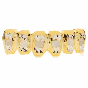 Gold Deep Diamond-Cut Bottom Grillz