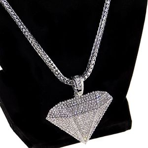 "Diamond Shape 36"" Silver Franco Chain"