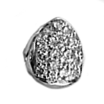 925 Sterling Silver Cubic CZ Single Cap (Choose Any Tooth)
