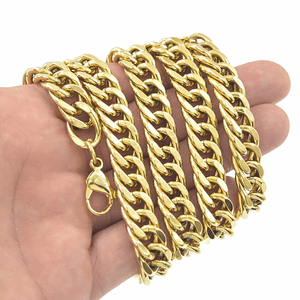"30"" x 12MM Double Cuban SS Chain"