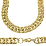 "30"" x 14MM Double Cuban S. Steel Chain"