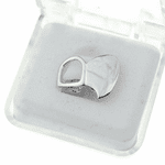 Double Left Top Fang Silver Tone
