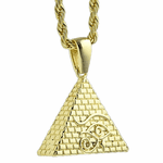 "Pyramid Eye 24"" Rope Chain"