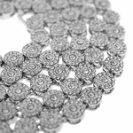"Flower Cluster 36"" Bling Silver Chain"