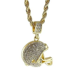 Football Helmet Bling Rope Chain 24""