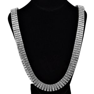 Four Row Silver Pharaoh Chain 30""