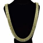 Four Row Gold Iced-Out Chain