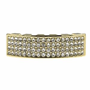 Gold 4 Row Lower Grillz