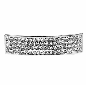 Silver 4 Row Bling Top Teeth Grillz
