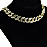 "Gold 16"" x 15MM Cuban Choker Chain"