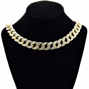 "Gold 18"" x 15MM Cuban Choker Chain"