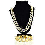 18MM Gold Chain & Bracelet