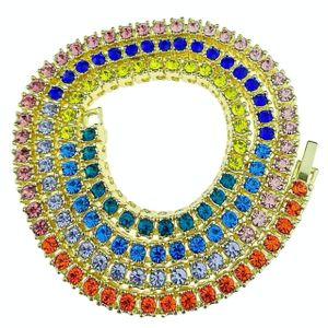"20"" Rainbow Tennis Chain Necklace"