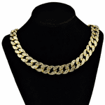 "Gold 20"" x 15MM Cuban Choker Chain"