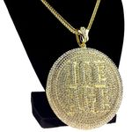 Gold Medallion Ice Age Franco Chain