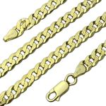 """14K Gold Plated 925 Curb Chain 20"""" 5MM"""