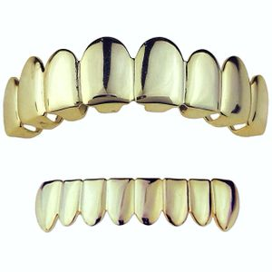 14K Gold Plated 925 8 On 8 Grillz Set
